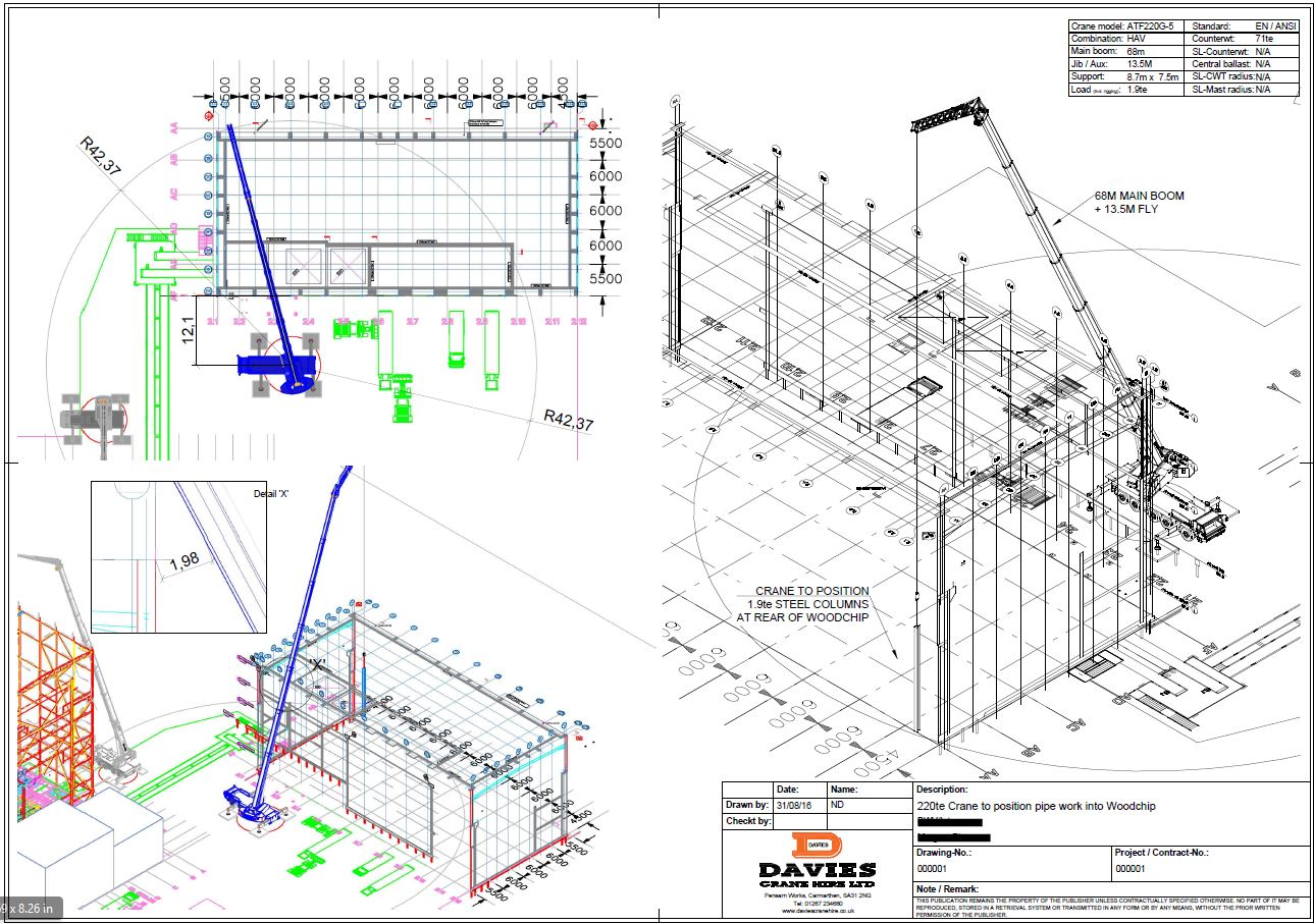 autocad planning davies crane hire ltd